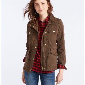 NWT LL bean signature waxed field jacket bark XS